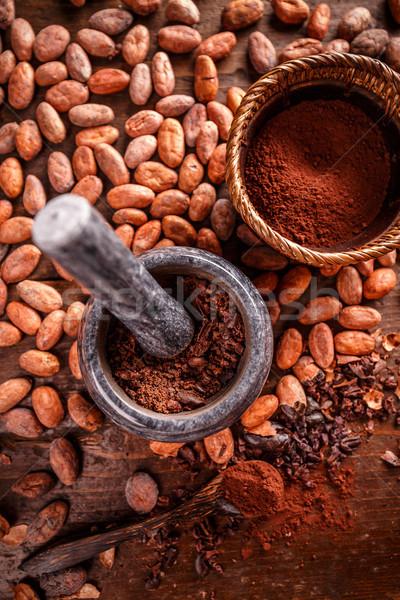 Stock foto: Still-Leben · Boden · Schokolade · Anlage · Jahrgang · Saatgut