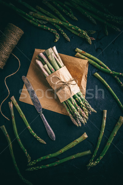 Bunch of green asparagus Stock photo © grafvision