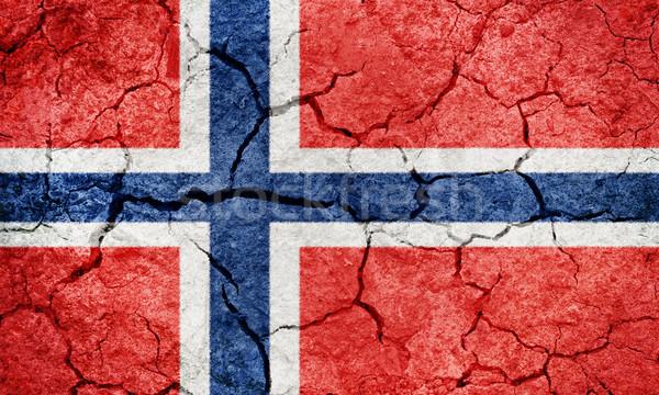Regno Norvegia bandiera asciugare terra terra Foto d'archivio © grafvision