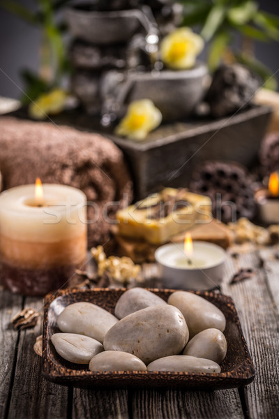 Stock photo: Zen stones