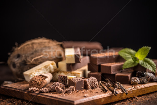 Homemade chocolate fudge Stock photo © grafvision