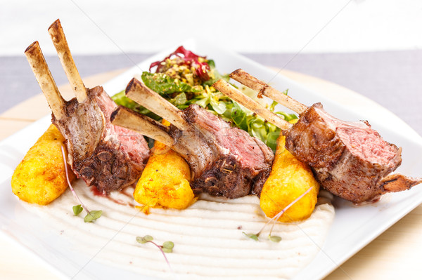 Organic grilled lamb chops Stock photo © grafvision