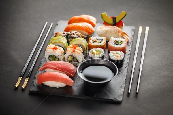 Sashimi maki sushis fraîches délicieux rouge Photo stock © grafvision