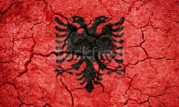 Republic of Albania flag  Stock photo © grafvision