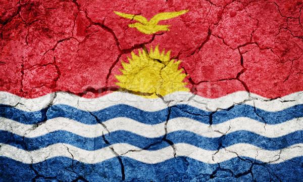 República Kiribati bandeira secar terra terreno Foto stock © grafvision