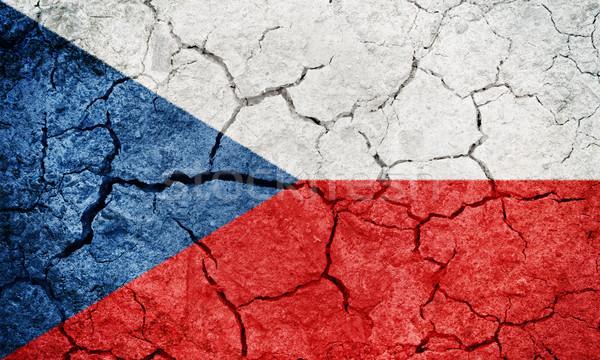 República Checa bandera secar tierra suelo textura Foto stock © grafvision