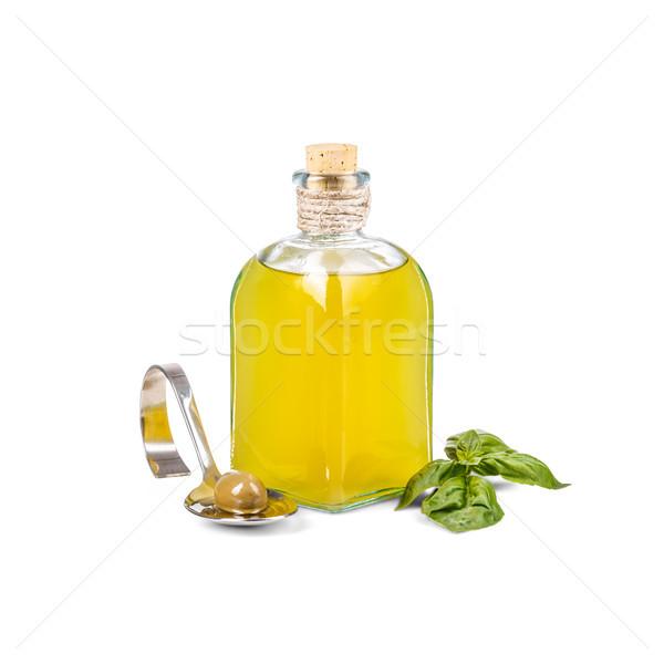 Glass bottle of olive oil Stock photo © grafvision