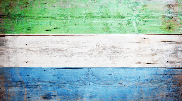 Flag of Sierra Leone Stock photo © grafvision