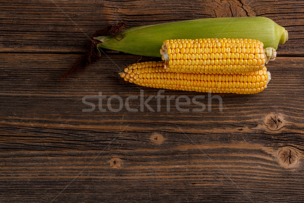 Stock photo: Fresh corn cobs