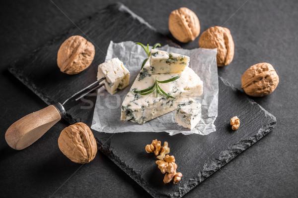 Gorgonzola or bleu cheese  Stock photo © grafvision