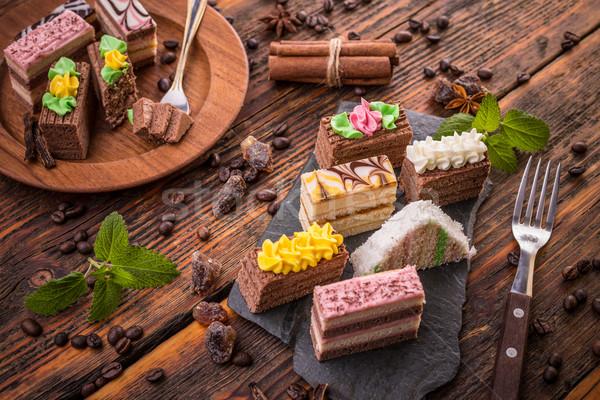 Delicious mini cakes  Stock photo © grafvision
