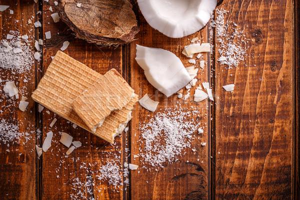 çikolata üst görmek doldurma ev yapımı Stok fotoğraf © grafvision