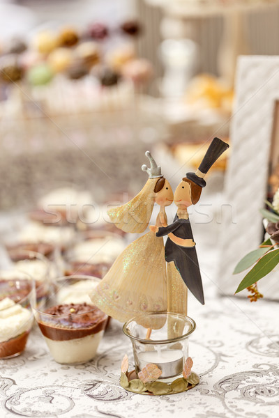 Wedding candy bar lusso decorato Foto d'archivio © grafvision