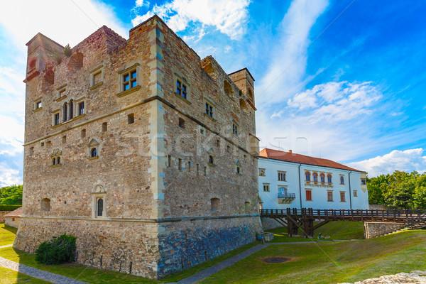 Middeleeuwse steen kasteel Rood toren Stockfoto © grafvision