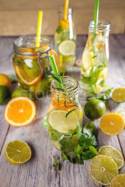 Cold lemon water Stock photo © grafvision