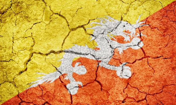 Királyság Bhután zászló száraz Föld föld Stock fotó © grafvision