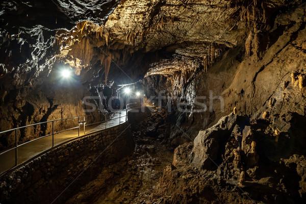 пещере конкретные свет стены природы фон Сток-фото © grafvision
