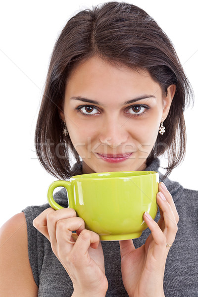 Woman with a tea cup Stock photo © grafvision