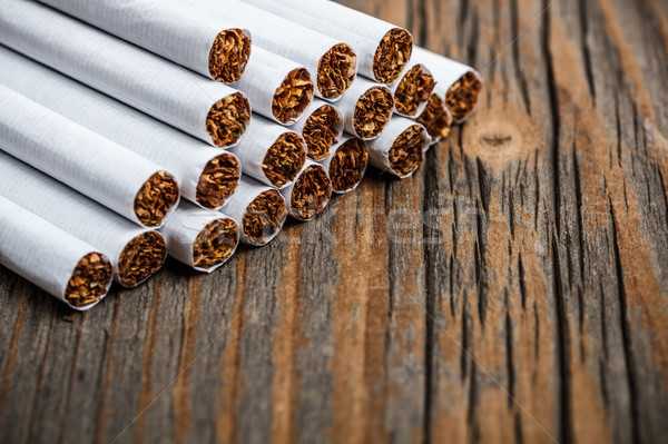 Stock photo: Stack of cigarette
