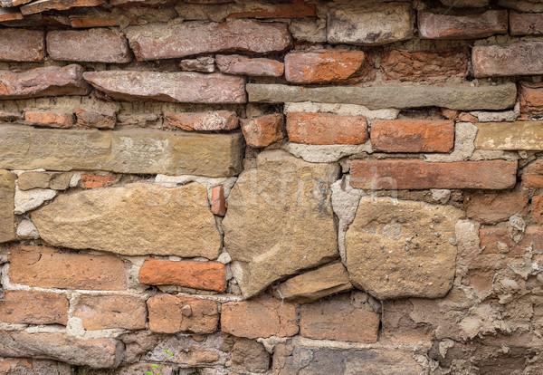 Photo stock: Mur · de · briques · texture · grunge · pierre · rétro · wallpaper