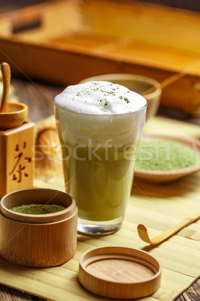 Glass of matcha green tea  Stock photo © grafvision