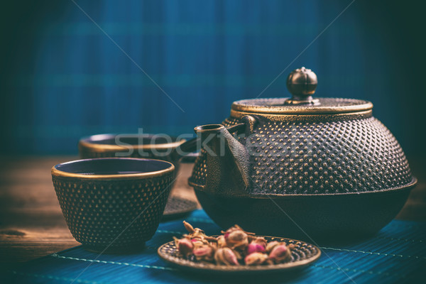 Close up of tea set Stock photo © grafvision