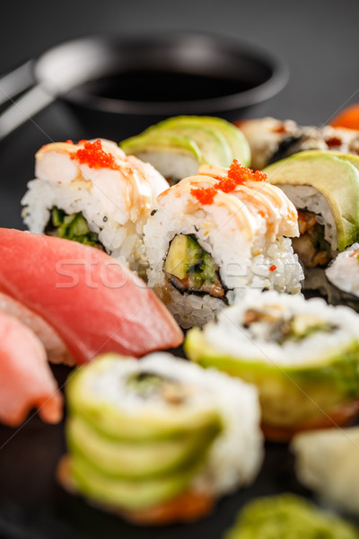 Сток-фото: суши · авокадо · лосося · рыбы