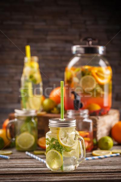 Fresh cool citrus lemonade Stock photo © grafvision