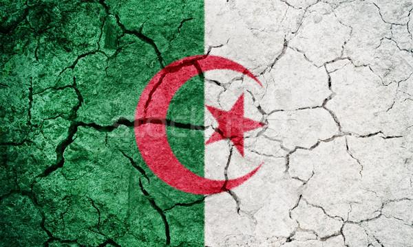 Peuples démocratique république Algérie pavillon sécher Photo stock © grafvision