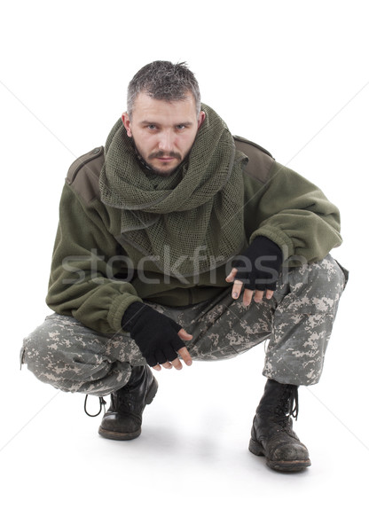 Paramilitary soldier Stock photo © grafvision