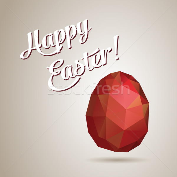 Vector retro egg made of color triangles Stock photo © graphit