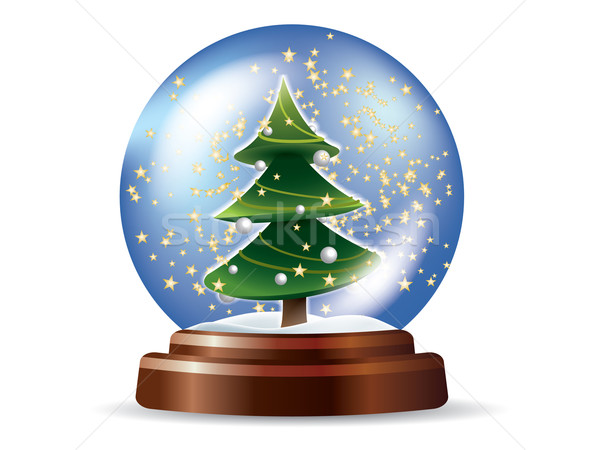 Snowglobe with Christmas tree Stock photo © graphit