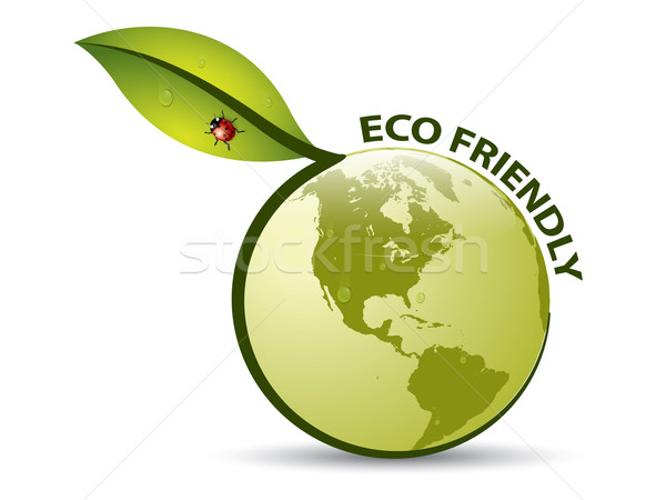 Vector Green ECO FRIENDLY Label Stock photo © graphit