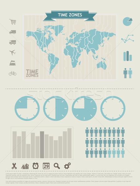 Stock fotó: Világtérkép · információ · grafika · elemek · terv · felirat