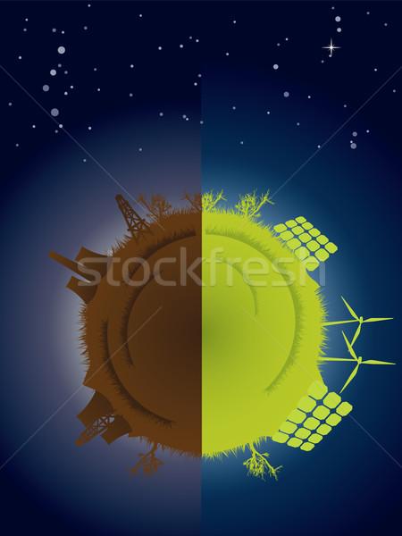 Monde vert écologique pollution côté Photo stock © graphit