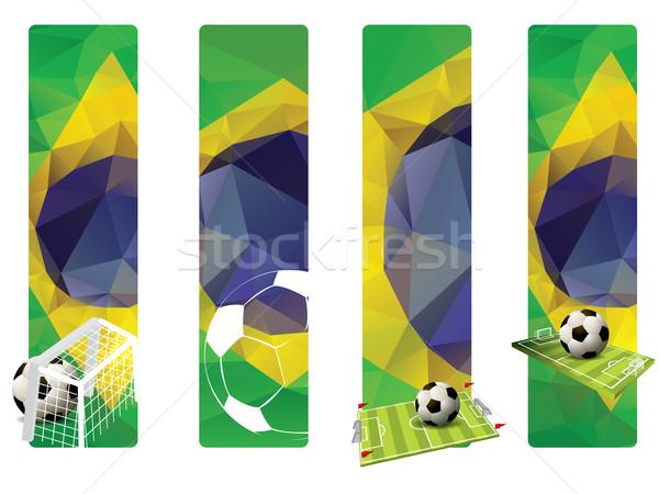Set Brasile colore calcio calcio Foto d'archivio © graphit