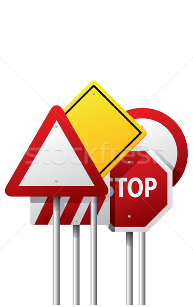 Vector road signs Stock photo © graphit