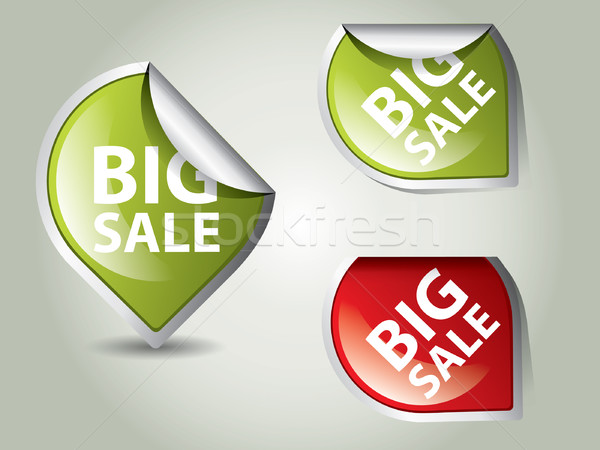 Round Labels - stickers for big sale Stock photo © graphit