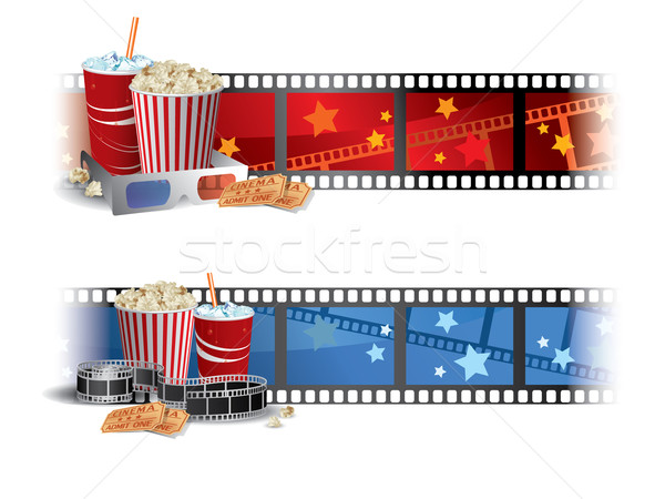 Cinema Banners Stock photo © graphit