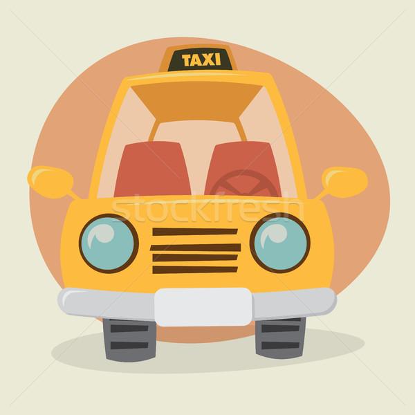Karikatür araba görmek gülümseme spor Stok fotoğraf © graphit