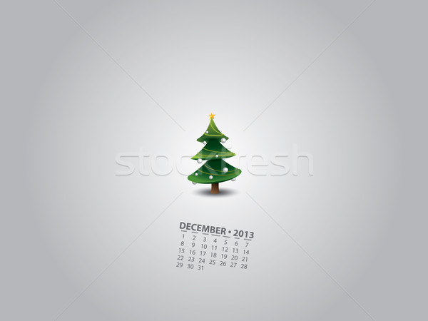 Minimalny choinka kalendarza drzewo candy złota Zdjęcia stock © graphit