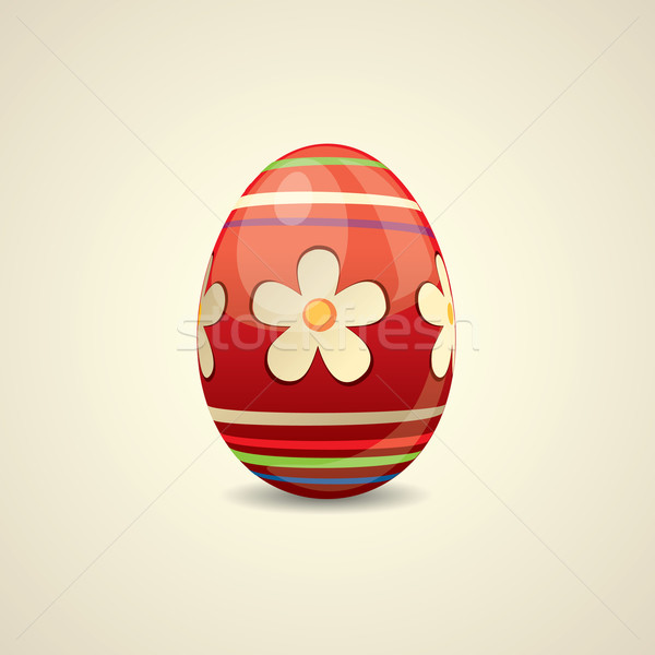 Colorful painted Easter egg Stock photo © graphit