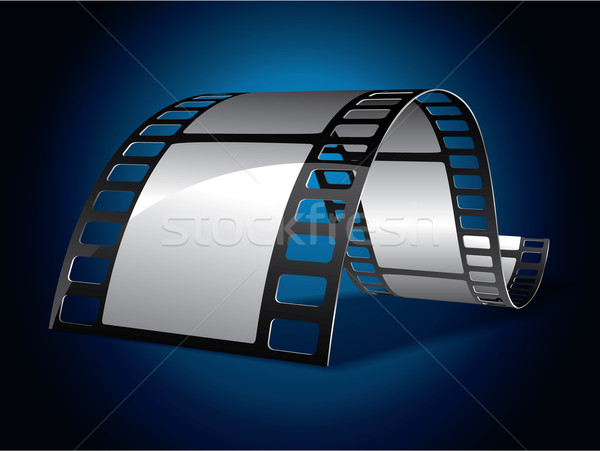 Film strip on blue background Stock photo © graphit