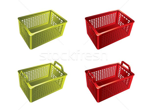 Plastic shopping basket Stock photo © graphit