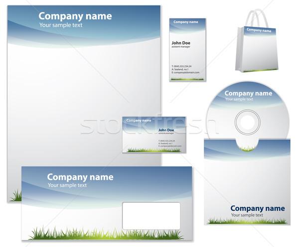 Estilo moderno vetor modelo escritório projeto fundo Foto stock © graphit