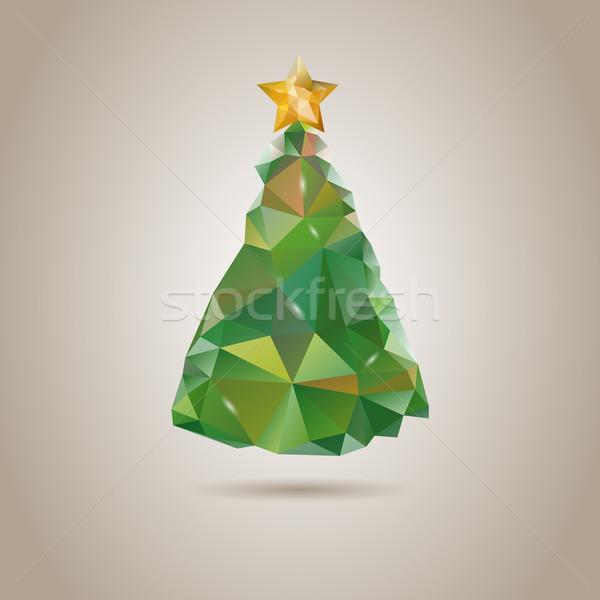 低い いたずら書き クリスマスツリー ツリー 男 デザイン ストックフォト © graphit