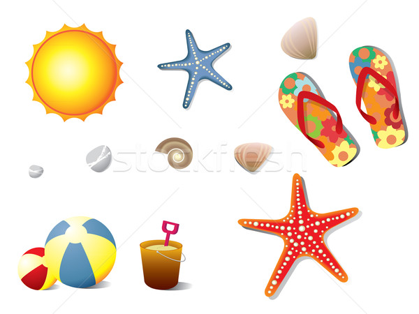Summer holidays elements Stock photo © graphit