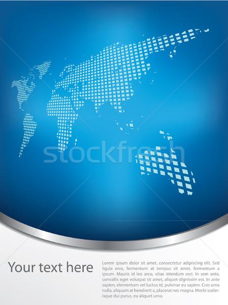 Broşür dizayn toprak harita doku uzay Stok fotoğraf © graphit