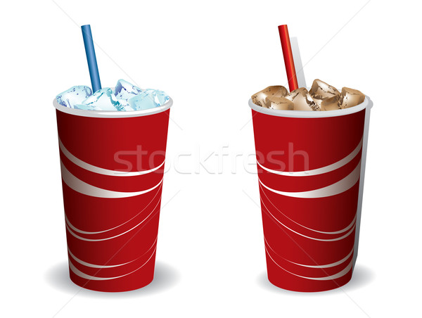 Stock photo: Drink cooled with ice