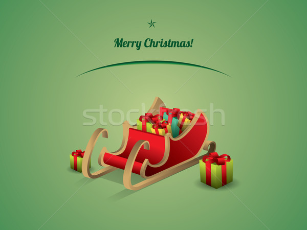 Santa sleigh with Gifts Stock photo © graphit